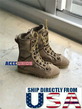 "1/6 Men Tactical Combat Boots SAND For 12"" Hot Toys Male Figure U.S.A. SELLER"