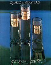 Publicité Advertising 127  1980  eau  parfum Quartz par Molyneux