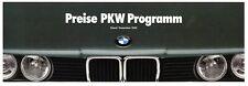 BMW Preise PKW 1990 12/90 D Preisliste price list cennik 3er 5er 7er 8er Z1