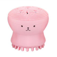 Cute Octopus Shape Silicon Face Cleaning Brush Facial Exfoliator Makeup Cleaner