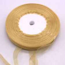 "New 50 Yards 3/8"" 10mm Satin Edge Sheer Organza Ribbon Bow Craft Wedding"