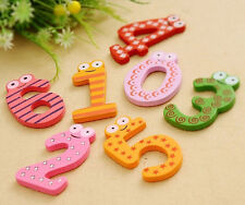 Hot 10 Numbers Cartoon Educational Toy Wooden Fridge Magnet For Baby Kid Gift