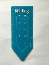 Vintage Simply Knitting Needle Size Gauge - British Haberdashery