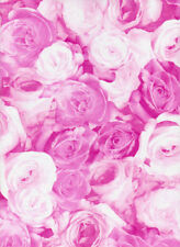 Decopatch Decoupage Printed Paper Purple Light Pink Roses
