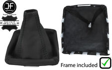 BLACK STITCH LEATHER GEAR BOOT PLASTIC FRAME FITS SUBARU FORESTER 2008-2013