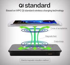 UK 6000mAH Power Bank Qi Inalámbrico Cargador para iPhoneX Samsung Batería externa