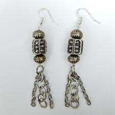 IKandi Gear Bohemian Chains & Stacked Beads Drop Dangle Fish Hook Earrings