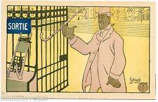 EDOUARD BERNARD. L'ENTôLAGE. N°1 .HOMME AISé SORTANT DE LA BOURSE à PARIS.