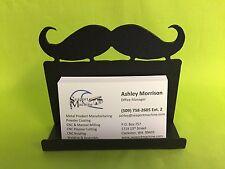 Metal Mustache Desktop Business Card Holder