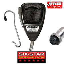 Astatic 636L Noise Cancelling 4-Pin CB Radio Microphone With Metal Buddy Hook