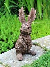 Garden Ornament Rabbit Hare Sculpture indoor outdoor Wood Effect Home Decor