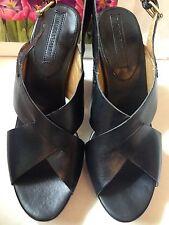Banana Republic Black Leather High Heels Platform Sandal women's, SZ 8.5 M $89