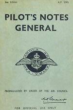 AP 2095 PILO'TS'NOTES GENERAL - R.A.F.AIR MINISTRY 1943