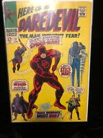 Daredevil 27 Marvel Silver Age, Spider-Man Crossover, Key Issue .