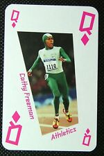 1 x playing card London 2012 Olympic Legends Cathy Freeman Athletics QD