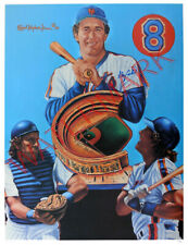 GARY CARTER #8 AUTOGRAPH NEW YORK METS 20 x 26 LITHOGRAPH ROBERT STEPHEN SIMON