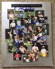 1996 PGA O'Meara Faldo Daly Signed Autographed 25th Honda Classic Golf Program