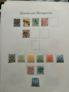 Bosnia And Herzegowina Stamps on 8 Album Pages.