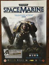 Warhammer Space Marine PS3 XBOX 360 43x60cm Original Video Game Promo Poster #2