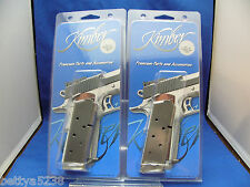 TWO Factory Kimber 1911 Magazine 45 ACP Stainless Ultra Compact 7 Round Mag Clip