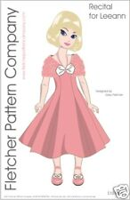 Recital Dress & Wrap Doll Clothes Sewing Pattern 11 Leeann