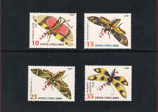 INSECTS OF CYPRUS BUTTERFLIES SET OF 4V 1997 OVERPRINTED SPECIMEN MNH