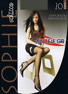 "9 cm Deep Sensuous Sheer Lace Top Hold-ups 20 Denier -Sentelegri-""SOPHIE"""