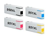 4x Cartuchos de tinta para HP Officejet Pro 8100 8600 8615 8620 / 950xl+ 951xl