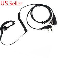 Ear Hook Earpiece Headset 2-Pins Connector PTT MIC Kenwood Puxing Wouxun Baofeng