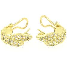 18ct Oro Amarillo 0.64ctw Pavé Fino Redondo Diamante Brillante Huggie