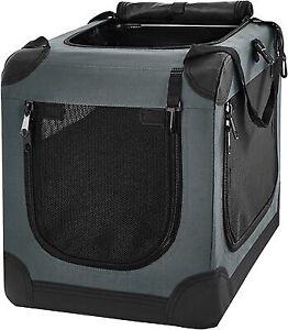"""Soft-sided Dog Crate 21in Frisco Indoor/Outdoor 3-Door Collapsible dark Gray 21"""""""