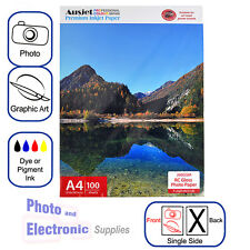 A4 Glossy RC (resin coated) Inkjet Photo Paper 260gsm (100 Sheets), Gloss