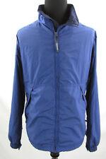 LL Bean Mens XXL 2XL Nylon Jacket Coat Blue Soft Shell Raincoat Outdoor