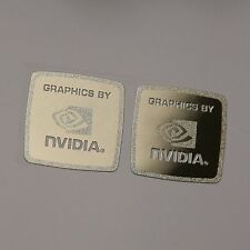 "2x"" Gráficas por Nvidia"" Metal Etiqueta 17x17mm Funda Badge Logo Label Vendedor"