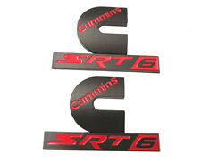 2 NEW MATTE BLACK DODGE RAM 2500 3500 DIESEL EFI LIVE SRT6 TURBO DIESEL EMBLEMS