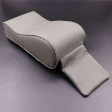Car SUV Armrest Box Mats Console Pad Liner Cushion Cover PU Leather Grey