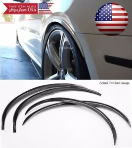 "2 Pair Black 1"" Flexible Arch Wide Body Fender Well Extension Guard Lip For Ford"