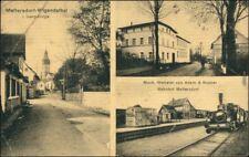 Meffersdorf Wigandsthal Pobiedna   Straße, Weberei Adam Knauerr, Bahnhof 1919