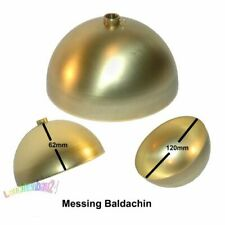 Messing Baldachin Ø 120mm x 62mm Höhe mit 10er Stellring Deckenverteiler