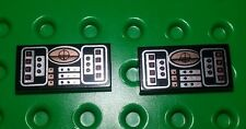 *NEW* Lego Small Black Avionics Targeting Brick Dashboard Panel Plate - 2 pieces