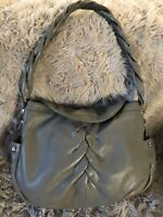 B. MAKOWSKY Women's LEATHER Shoulder Bag Twister Strap HOBO TOTE