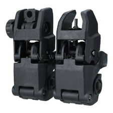 2Pcs Premium Flip-up Tactical Folding Sights Front and Rear Backup Set