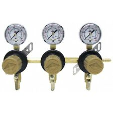 Secondary Regulator 3 Way In Line Beer Keg Homebrew Dual Kegerator Carbonation