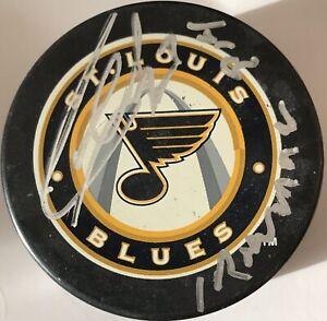 "GARRY UNGER ""Ironman"" Signed St. Louis Blues 3rd Logo Hockey Puck"