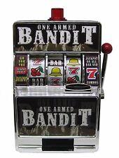Las Vegas Style One Armed Bandit Toy Slot Machine - Saving Bank - FREE S/H *