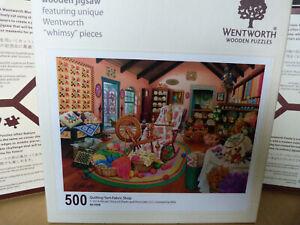 Wentworth Puzzle 500 Teile Quilting Yarn Fabric    KOMPLETT! Sehr guter Zustand!