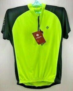 NWT Koraman Men's Reflective Cycling Short Sleeve Jersey Neon Yellow Size XXL
