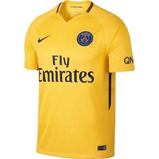 Nike PSG Paris Saint German Season 2017 - 2018 Away Soccer Jersey New Yellow