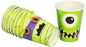 Boo Crew Skeleton Monster Mummy Spider Cute Halloween Party 9 oz. Paper Cups
