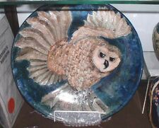 LARGE OWL CHARGER, 39cm,LISE B. MOORCROFT, 2000, IN VERY GOOD CONDITION
